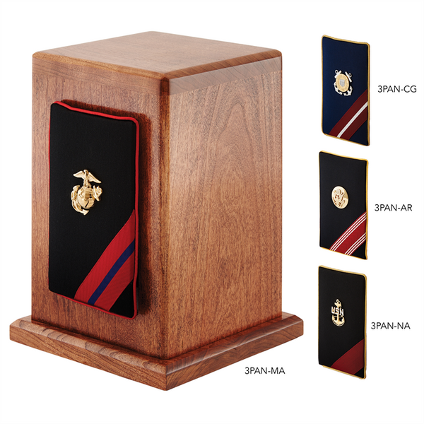 Military Panel Wood Urn